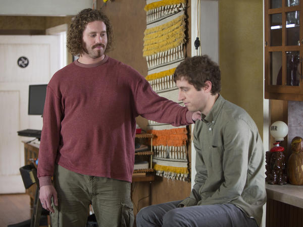 In <em>Silicon Valley,</em> Miller plays tech blowhard Erlich Bachman opposite Thomas Middleditch's Richard Hendricks, a tech newbie.