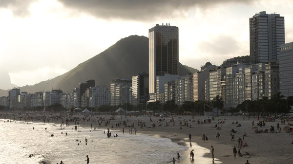 Hotels and apartment buildings line the Copacabana beach in Rio de Janeiro, Brazil. The head of a sports travel agency specializing in packages for the Rio 2016 Olympics said that the company's business could be devastated if the Zika virus continues to spread.
