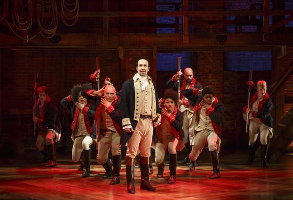 "Lin-Manuel Miranda stars as Hamilton in the Broadway production of ""Hamilton."" (Joan Marcus)"