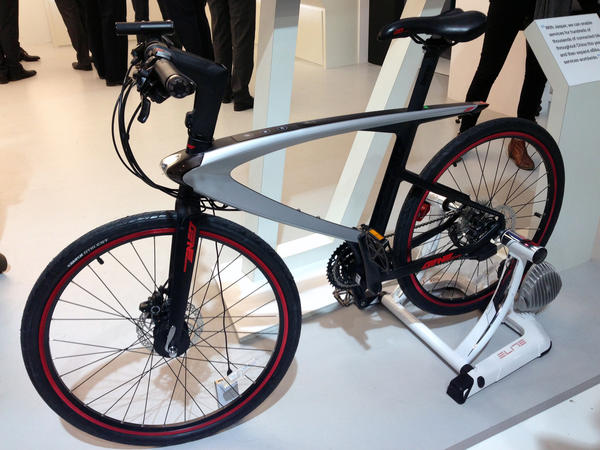 You can program this smart bike to play music, take photos or help you with a workout.