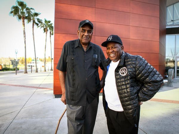 Willie Harris and Alex Brown, photographed in Stockton, Calif.