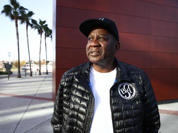 Brown, in his Black Stuntmen's Association jacket