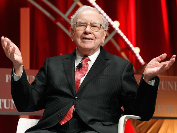Warren Buffett speaks onstage during Fortune's Most Powerful Women Summit, in October 2015.