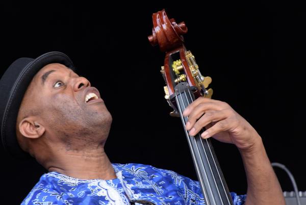 Bass player Essiet Okun Essiet from Nigeria performs.
