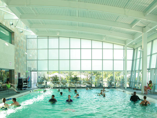 Water therapy helped Jodie Foster's mother, so the actress contributed a pool to the Woodland Hills campus.