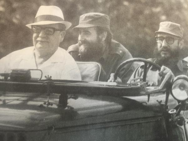 Salvador Allende, Manuel Piñeiro and Fidel Castro in Havana, before Allende was elected president of Chile in 1970.