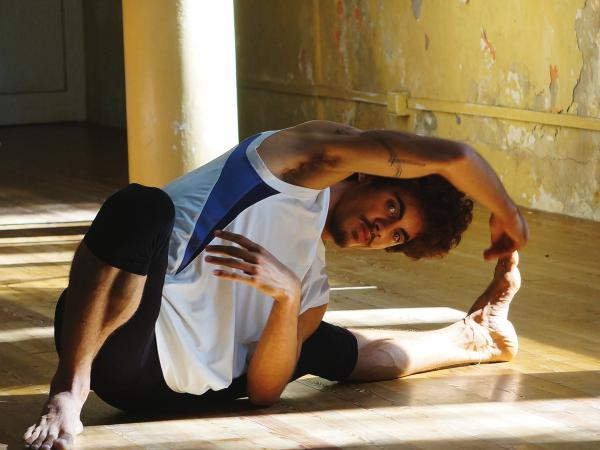 A member of Danza Contemporánea de Cuba warms up before rehearsal in Havana in November 2015.