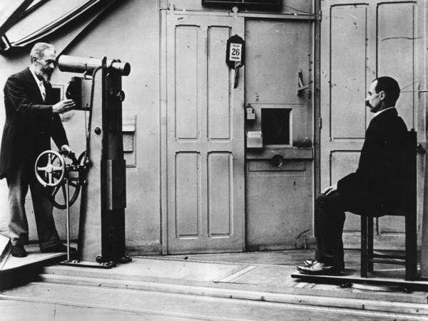 French criminologist Alphonse Bertillon's (left) techniques for identifying criminals in the late 19th century set the template that police use today.