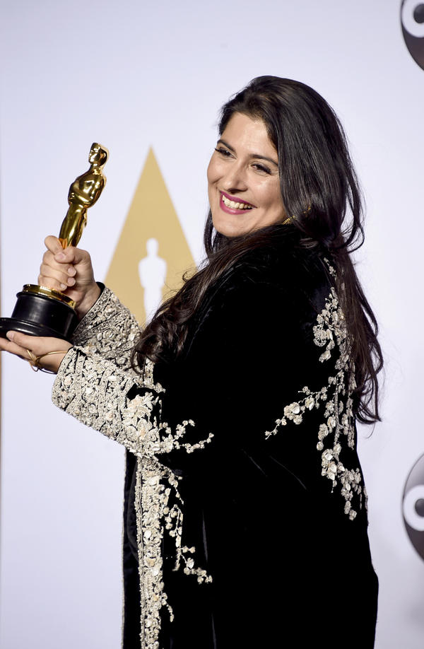 Sharmeen Obaid-Chinoy won the Oscar for best documentary short subject for <em>A Girl in the River: The Price of Forgiveness</em>.