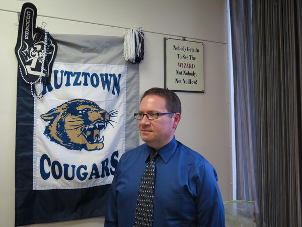 Guidance counselor Andrew Brett works at Kutztown High. He says he has seen students migrate from pot to prescription painkillers to, sometimes, heroin.