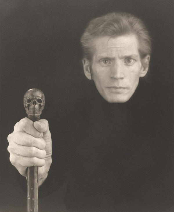 This haunting self-portrait was made not long before Mapplethorpe died.