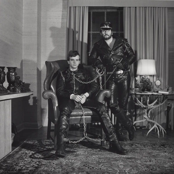 Mapplethorpe made this double portrait of Brian Ridley and Lyle Heeter in 1979.