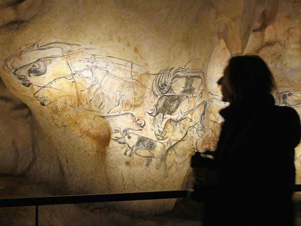 A visitor takes in the life size replica of Grotte Chauvet near Bollene in southern France in March 2015.