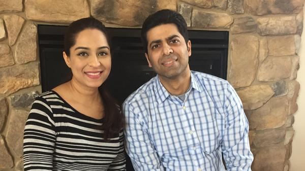 "Asma Sukhera, 36, and her husband Minhaj Husain, 39, say they're appalled by the rhetoric about Muslims this campaign. ""This election's coming across as a pick-your-poison election,"" said Minhaj."