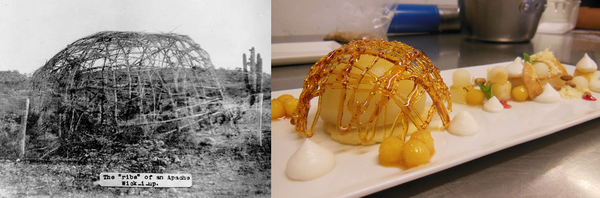 """This dish,<em> Masáána bik'os ndeezi bigową</em> or """"The Long-Neck Apple's House"""" captures the theme of """"Identity, Time and Place"""" in Apache cuisine."""