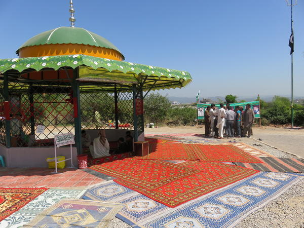 A gazebo shrine houses Mumtaz Qadri's body near Islamabad.