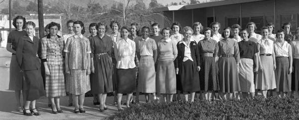 """The women of the Jet Propulsion Laboratory helped launch the first American satellites, lunar missions and planetary explorations. Those """"human computers,"""" as they were called, are seen here in 1953."""