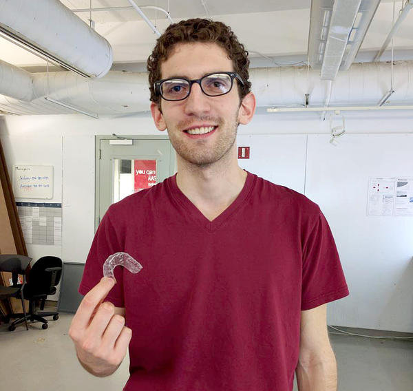 Dudley used a 3-D printer to create dental aligners to straighten his crooked teeth.