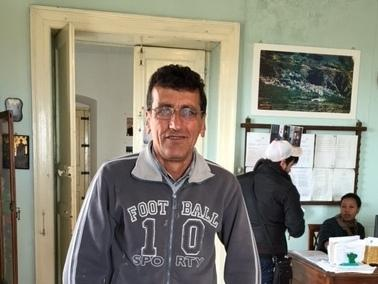 Kurdish refugee Bahram Akar, 50, has lived in Riace for 18 years.