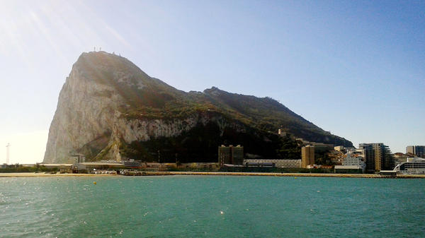 The Rock of Gibraltar, as seen from the Spanish town of La Linea de la Concepcion, at Spain's southern tip. Gibraltar has been British territory for 301 years, but many Spaniards want it back. Fresh squabbles over fishing rights cropped up recently.