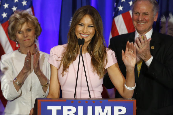 Melania Trump has taken a smaller role in her husband's campaign than other political spouses but has spoken at several of Trump's rallies.