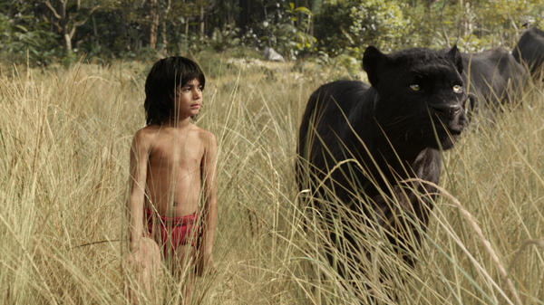 10-year-old Neel Sethi does persuasive work in <em>The Jungle Book's</em> digitized world.