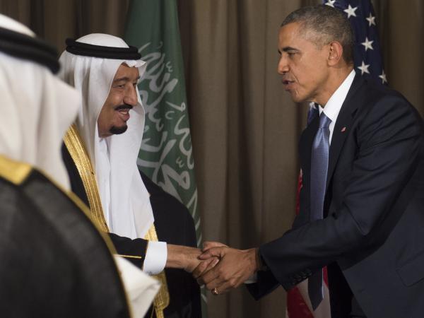 President Obama shakes hands with Saudi King Salman bin Abdulaziz Al Saud following a meeting in November at the G20 summit in Antalya, Turkey.