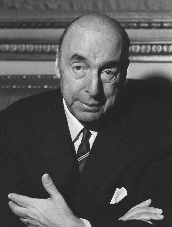 Chilean writer and poet Pablo Neruda, after being awarded the 1971 Nobel Prize in Literature.