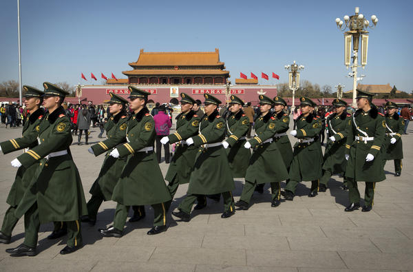 The <em>New Yorker</em>'s Evan Osnos says by the time he visited Tiananmen Square (seen here in March) the government had erased all traces of the 1989 demonstrations.