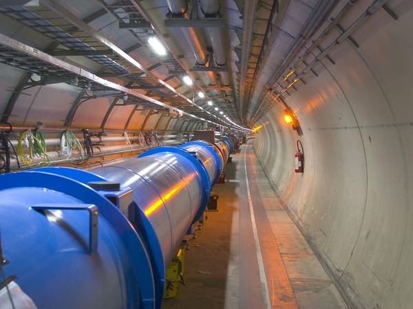 The Large Hadron Collider uses superconducting magnets to smash sub-atomic particles together at enormous energies.