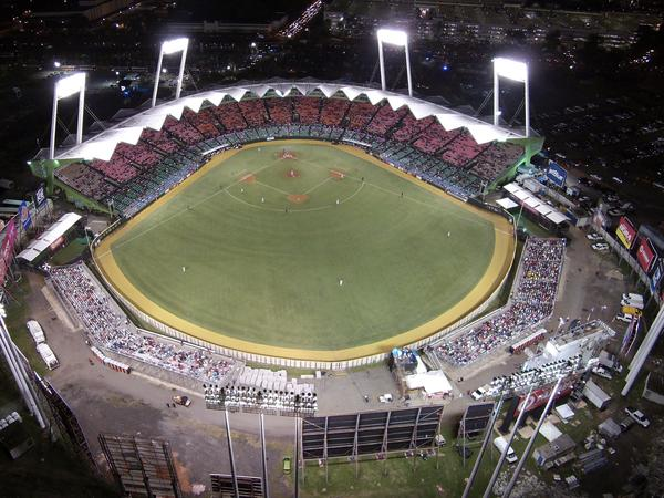 An aerial view of the Hiram Bithorn Stadium as Puerto Rico plays Dominican Republic at the Caribbean Series baseball tournament in San Juan, Puerto Rico in February.