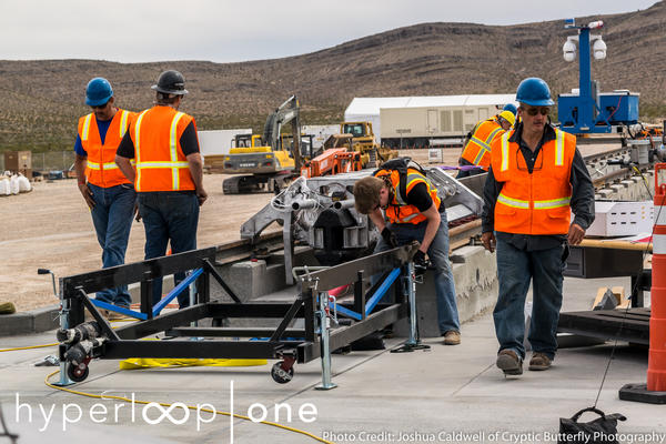 Hyperloop One tested a propulsion motor on a track, one component of the Hyperloop.