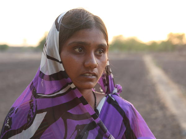 """Bhagyashree Jadhav was widowed after her husband took his own life last September. Overwhelmed by debt and dying crops on his tiny cotton farm, he swallowed pesticide. But his widow says, """"I will never turn my back on life."""" She awaits the monsoons just weeks away """"with hope."""""""