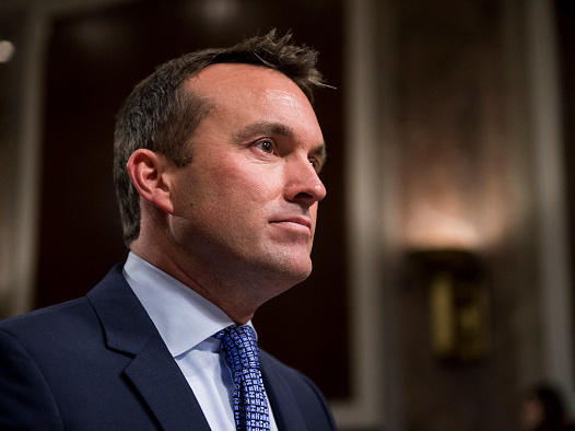 Eric Fanning testifies during the Senate Armed Services Committee hearing on his nomination to be secretary of the Army in January. His nomination was confirmed by the Senate Tuesday.