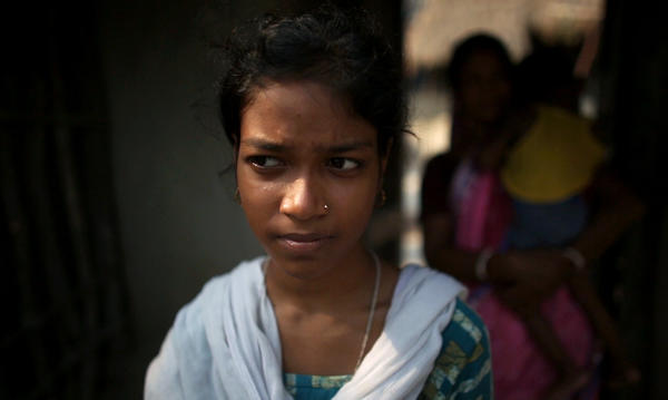 Ria Sardar, 17, can easily study after dark now, thanks to solar power in her village.