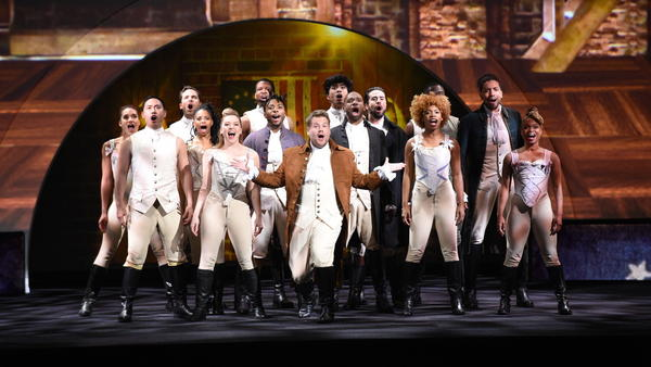 <em>The Late Late Show</em> host James Corden performs in a Hamilton parody, as CBS and other networks present their fall lineups at this year's upfronts.