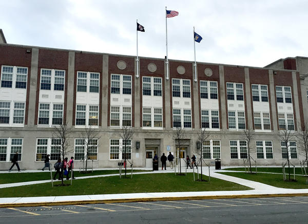 New York's Utica City School District has reached a settlement in a federal lawsuit that says it discriminated against refugee students and did not let them enroll at Thomas R. Proctor High School, shown here.