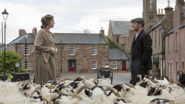 <em>Sunset Song</em>, Terence Davies latest film, tells the story of Chris Guthrie (Agyness Deyn), a young Scottish woman who gives up her dream to help run the family farm. Along the way, she falls in love with a young farmer named Ewan (Kevin Guthrie).