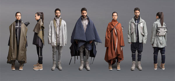 Angela Luna, recent Parsons School of Design graduate, is designing clothes for Syrian refugees that double as tents, sleeping bags, flotation devices, and more. (Courtesy/Angela Luna)
