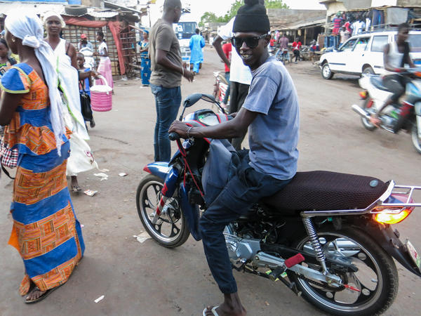 Assane Thiobane, 28, a motorbike taxi driver in Tambacounda, eastern Senegal, is saving up to leave for Europe, where he hopes to earn more money for himself and his family. If you die along the way, he says, that's your destiny.<strong></strong>