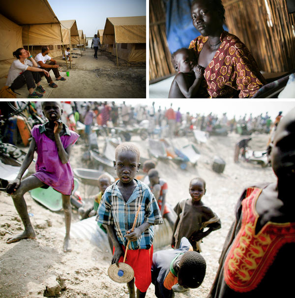 """People stand in line for food at the U.N. Protection of Civilians site near Bentiu, South Sudan. Over 120,000 people live at the site, the biggest in the country. <em>From the story """"<a href=""""http://www.npr.org/sections/goatsandsoda/2016/05/25/478251493/five-days-and-five-nights-with-doctors-without-borders"""" target=""""_blank"""">Five Days And Five Nights With Doctors Without Borders</a>,"""" 2016.</em>"""