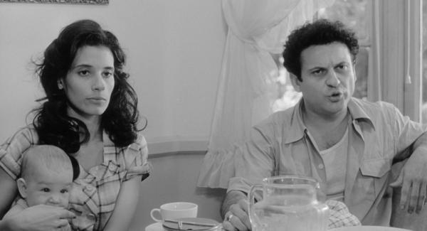 Actors Theresa Saldana and Joe Pesci in the 1980 film <em>Raging Bull</em>. Saldana died at the age of 61.