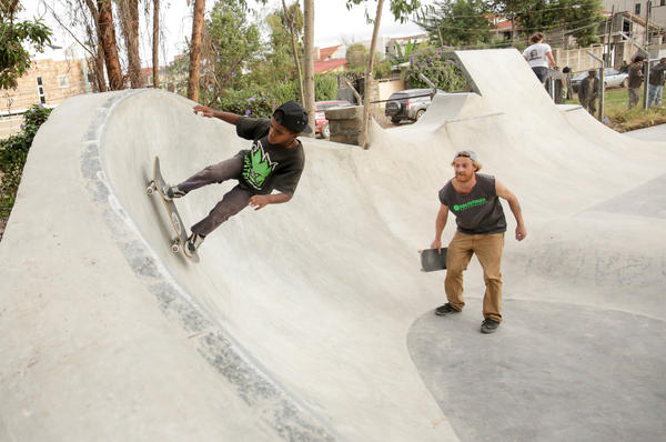 The skate park opened in April.