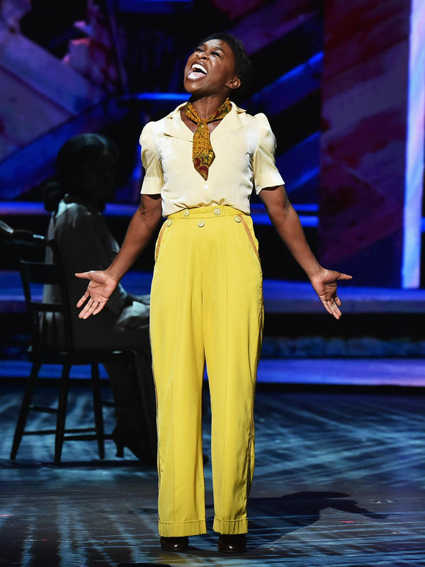 Cynthia Erivo, star of <em>The Color Purple,</em> performs onstage during the 70th Annual Tony Awards.