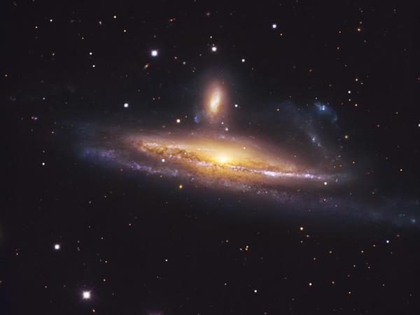 The pair of galaxies NGC 1531/2, engaged in a spirited waltz, is located about 70 million light-years away toward the southern constellation Eridanus (The River).