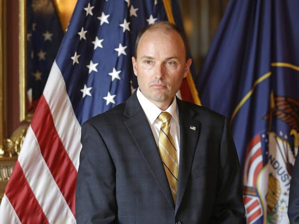 Spencer Cox in Salt Lake City in 2013. Now lieutenant governor of Utah, Cox gave a speech in honor of the victims of the Orlando shooting on Monday.
