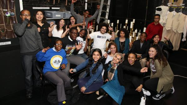These are just a few of the 1,300 New York City high school students who gathered for a special matinee performance of <em>Hamilton</em> at the Richard Rodgers Theatre on May 11, 2016.