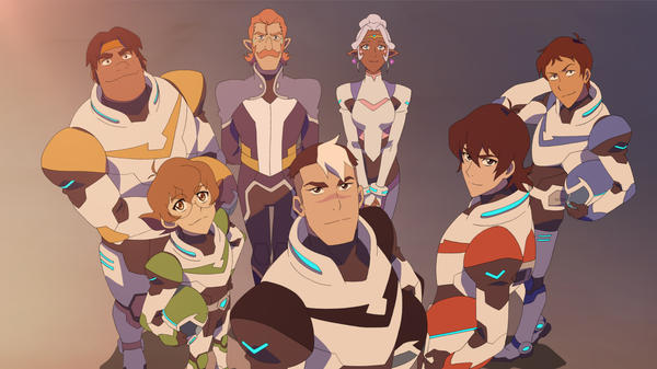 """The cast of Netflix's <em>Voltron: Legendary Defender</em> includes characters named """"Hunk"""" and """"Pidge."""" Yes, I know. It's really good though."""