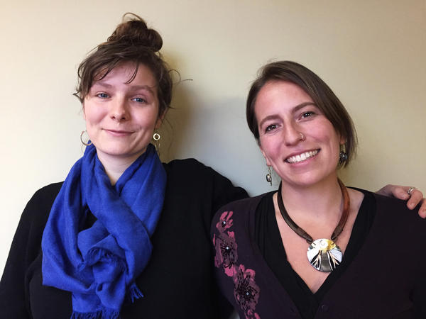 "Josephine Ferorelli (left) and Meghan Kallman are the co-founders of Conceivable Future, a nonprofit founded on the notion that ""the climate crisis is a reproductive crisis."""