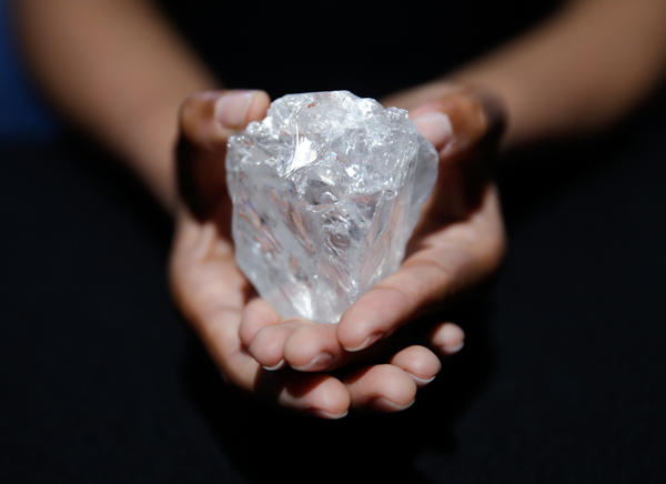 Found in Botswana, the Lesedi la Rona diamond is up for auction and valued at $70 million.